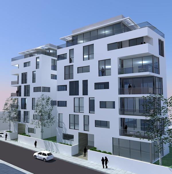 נחמני 52-54 תל אביב. יזם העיר הלבנה. אדריכלים- בר אוריין