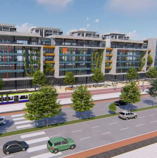 בית בפארק אור יהודה. יזם- גשם למשתכן. אדריכלים   בחינת חזית משרדים נוחות ויזואלית וחיסכון אנרגיה במשרדים עם תאורה טבעיתMILOSLAVSKY